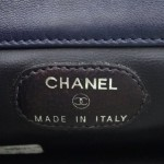 Vintage Chanel Blue Jean Clutch Purse With Mirror 5
