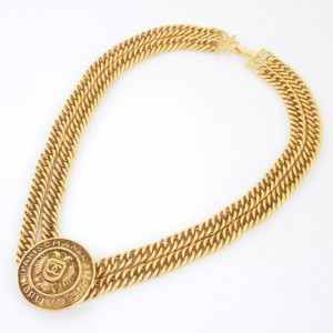 Chanel Double Chain Necklace 1