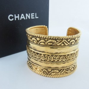 Gold Chanel Bangle 1