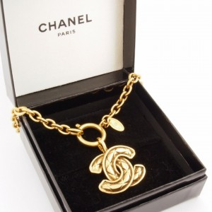 Vintage Chanel Logo Necklace 1