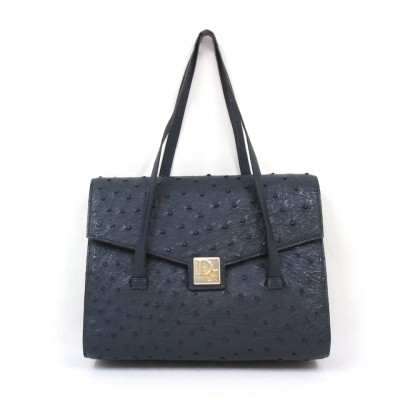 Christian Dior ostrich bag blue 1