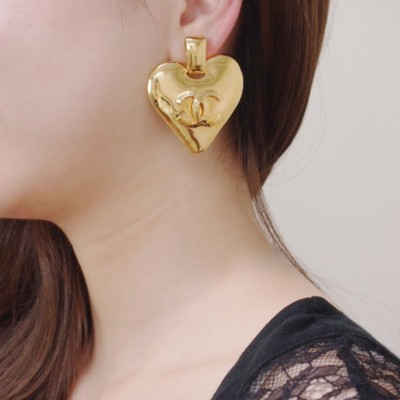 Chanel Heart Earrings 1